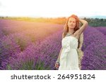girl in white dress on the... | Shutterstock . vector #264951824