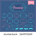 simple and graceful frame...   Shutterstock .eps vector #264953369