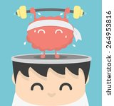 businessman exercising  brain | Shutterstock .eps vector #264953816