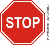 stop sign.  traffic stop sign  | Shutterstock .eps vector #264954860