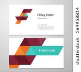 modern letter f business card... | Shutterstock .eps vector #264958814