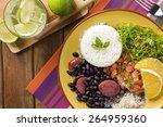feijoada  the brazilian cuisine ... | Shutterstock . vector #264959360