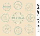 retro labels set. retro vintage ... | Shutterstock .eps vector #264959483