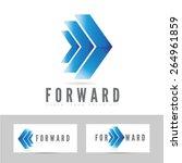 moving forward blue logo arrow... | Shutterstock .eps vector #264961859