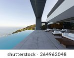 terrace of luxury house with...   Shutterstock . vector #264962048