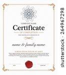 vector certificate template.    Shutterstock .eps vector #264967298