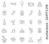 party line icons set.vector | Shutterstock .eps vector #264971198