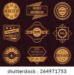 collection of labels. luxury... | Shutterstock .eps vector #264971753