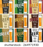 vector set design beer tasting... | Shutterstock .eps vector #264971930