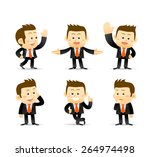 set of businessman in different ... | Shutterstock .eps vector #264974498