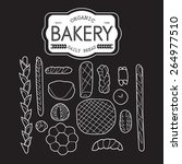 france bakery collection black... | Shutterstock .eps vector #264977510