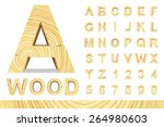 Wooden Alphabet Blocks With...