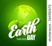earth day. vector illustration... | Shutterstock .eps vector #264982673