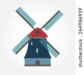 Windmill Icon Or Sign Isolated...