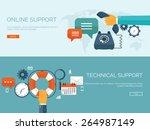 vector illustration. online... | Shutterstock .eps vector #264987149