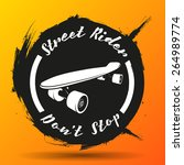 vector skateboarding emblem.... | Shutterstock .eps vector #264989774