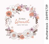 flower wreath | Shutterstock .eps vector #264991739