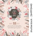 save the date. wedding... | Shutterstock .eps vector #264993440