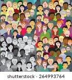 vector seamless background or... | Shutterstock .eps vector #264993764