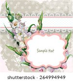 greeting card or invitation... | Shutterstock .eps vector #264994949