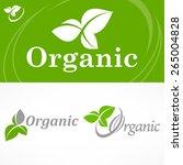 concept spring banner  leaves... | Shutterstock .eps vector #265004828