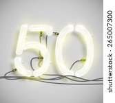 fifty  made by neon typeset ... | Shutterstock .eps vector #265007300