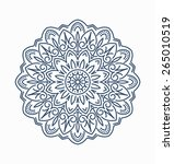 abstract vector round lace... | Shutterstock .eps vector #265010519