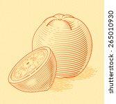 illustration of fresh orange.... | Shutterstock .eps vector #265010930