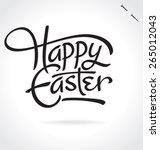 happy easter original custom... | Shutterstock .eps vector #265012043