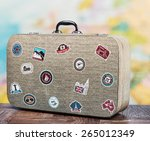 Old Suitcase With Stikkers On...