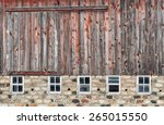Old  Weathered Red Barn With...