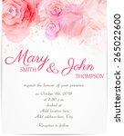 wedding invitation template... | Shutterstock .eps vector #265022600