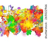 abstract colorful splash...   Shutterstock .eps vector #265022966