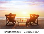happy couple enjoy luxury... | Shutterstock . vector #265026164