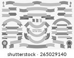 vector collection of decorative ... | Shutterstock .eps vector #265029140