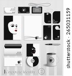 business cards collection with...   Shutterstock .eps vector #265031159