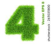 digit symbol 4 of grass... | Shutterstock .eps vector #265035800