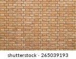 brown brick background | Shutterstock . vector #265039193