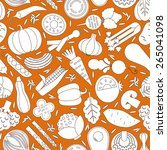 vector seamless pattern with... | Shutterstock .eps vector #265041098
