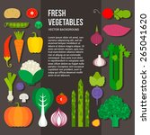 fresh vegetables vector concept.... | Shutterstock .eps vector #265041620