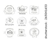 collection of vector... | Shutterstock .eps vector #265041653