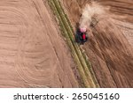 aerial view of harvest fields... | Shutterstock . vector #265045160
