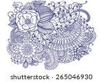 floral pattern. bouquet of...