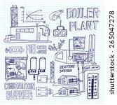 boiler room equipment ... | Shutterstock .eps vector #265047278