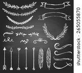 set of doodle vector design... | Shutterstock .eps vector #265055870