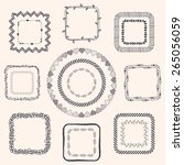 decorative black hand sketched... | Shutterstock .eps vector #265056059