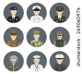 military avatars. vector set | Shutterstock .eps vector #265060976