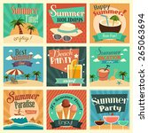 a vector illustration of summer ... | Shutterstock .eps vector #265063694
