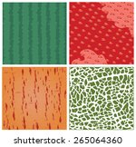 skin of fruit texture vector... | Shutterstock .eps vector #265064360