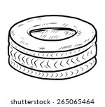 old tire   cartoon vector and... | Shutterstock .eps vector #265065464